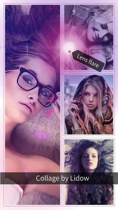 「Lidow - Photo Editor & Collage」のスクリーンショット 2枚目