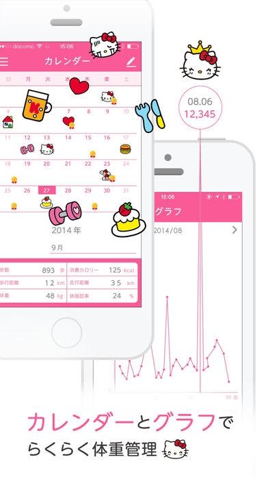 「簡単ダイエット!おさんぽハローキティ」のスクリーンショット 3枚目