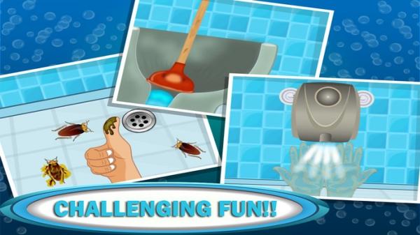 「浴室ミニ ゲーム-クレイジー & 面白い落書きゲーム愚かな陽気な時間パス トイレ & トイレの冒険を」のスクリーンショット 3枚目