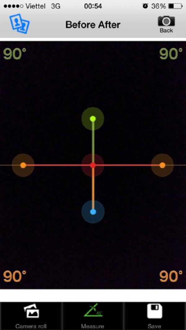 「リハビリ可動域計測&比較アプリ」のスクリーンショット 2枚目