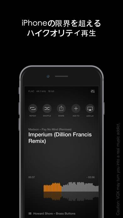 「VOX – MP3 & FLAC Music Player」のスクリーンショット 2枚目