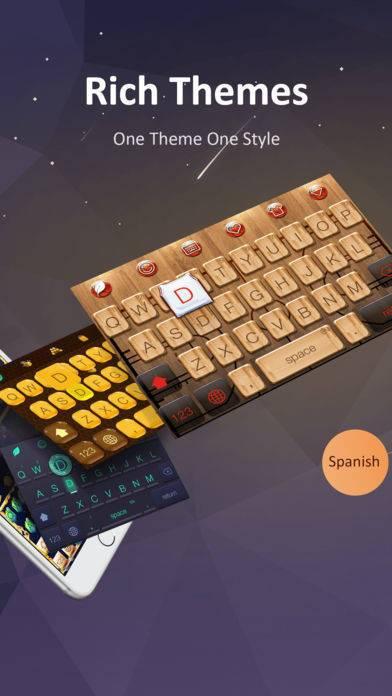 「GO Keyboard-Emojis&Cool Themes」のスクリーンショット 1枚目