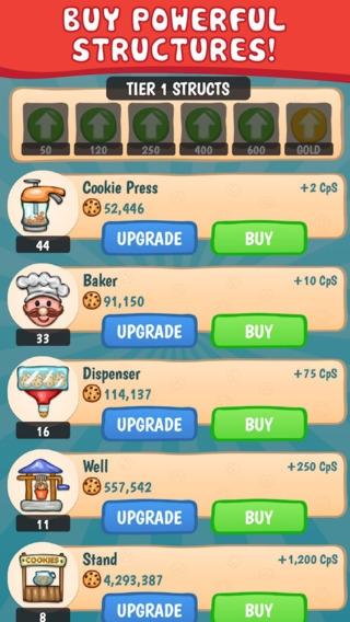 「Cookie Collector 2 - Free Clicker & Incremental Game」のスクリーンショット 2枚目