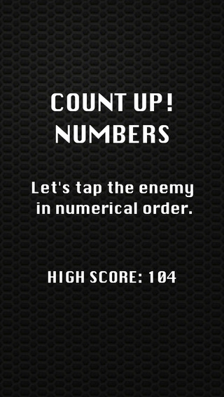 「Count Up ! Numbers 数字を数えるアプリ」のスクリーンショット 1枚目