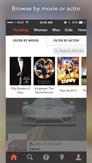 「TheTake - Fashion in Movies, Shop Exact Products, Identify Film Locations」のスクリーンショット 2枚目
