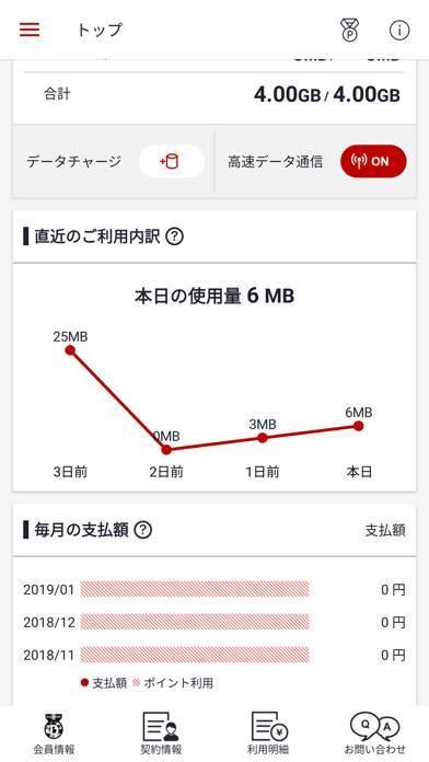 「楽天モバイル SIMアプリ」のスクリーンショット 2枚目