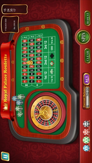 「Royal Palace Roulette」のスクリーンショット 3枚目