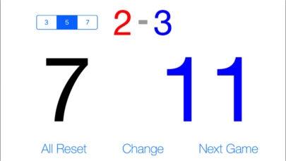 「ピンポン - シンプルな卓球スコアボードアプリ」のスクリーンショット 1枚目