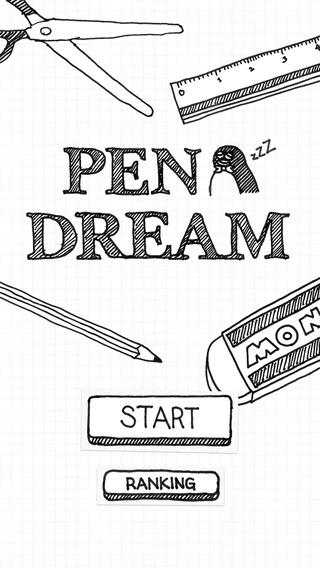 「PEN DREAM - ペンドリーム シンプルだけど難しいペンギンのゲーム」のスクリーンショット 1枚目