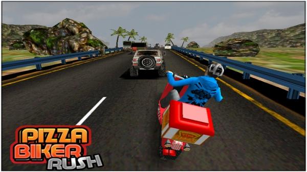「Pizza Biker Rush 3d」のスクリーンショット 1枚目