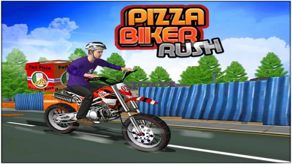 「Pizza Biker Rush 3d」のスクリーンショット 3枚目