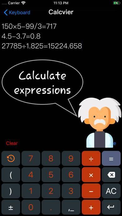 「Calcvier - Keyboard Calculator」のスクリーンショット 1枚目