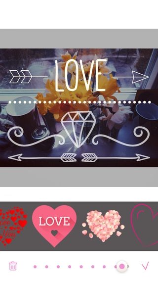 「Love Cards - Heart Stickers, Frames and Texts for Romantic Photo Edits」のスクリーンショット 3枚目