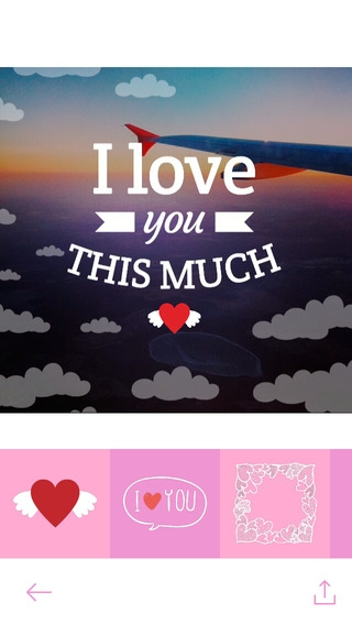 「Love Cards - Heart Stickers, Frames and Texts for Romantic Photo Edits」のスクリーンショット 1枚目