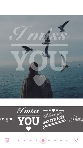 「Love Cards - Heart Stickers, Frames and Texts for Romantic Photo Edits」のスクリーンショット 2枚目