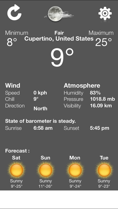 「weather exact condition - accurate and updated local forecast application」のスクリーンショット 2枚目