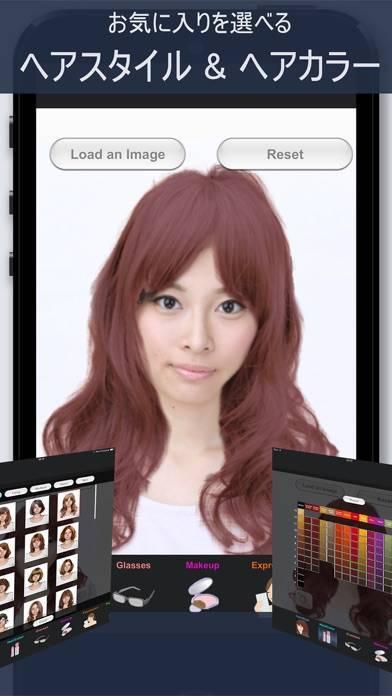 「ヘアスタイル シミュレーション - SimFront」のスクリーンショット 2枚目