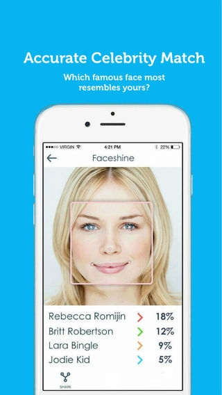 「Faceshine - Powerful & Social Face Analysis」のスクリーンショット 3枚目