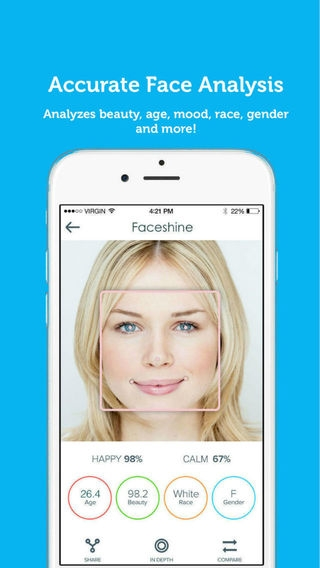 「Faceshine - Powerful & Social Face Analysis」のスクリーンショット 1枚目