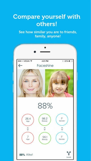 「Faceshine - Powerful & Social Face Analysis」のスクリーンショット 2枚目