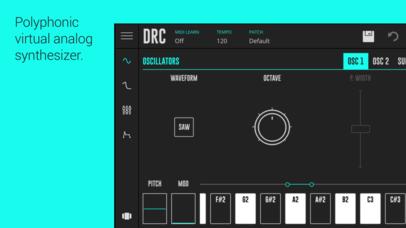 「DRC - Polyphonic Synthesizer」のスクリーンショット 1枚目