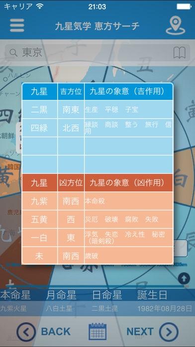 「九星気学 恵方サーチ」のスクリーンショット 3枚目