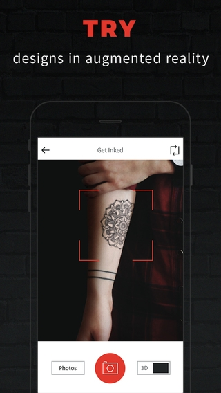 「INKHUNTER - try tattoo designs in augmented reality」のスクリーンショット 2枚目
