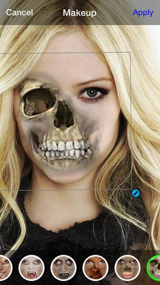 「Scary Makeup Horror photos Zombies and Stickers」のスクリーンショット 2枚目
