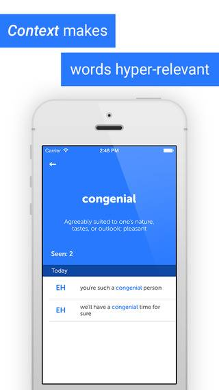 「Words U - Learn college-level words from texting friends」のスクリーンショット 3枚目