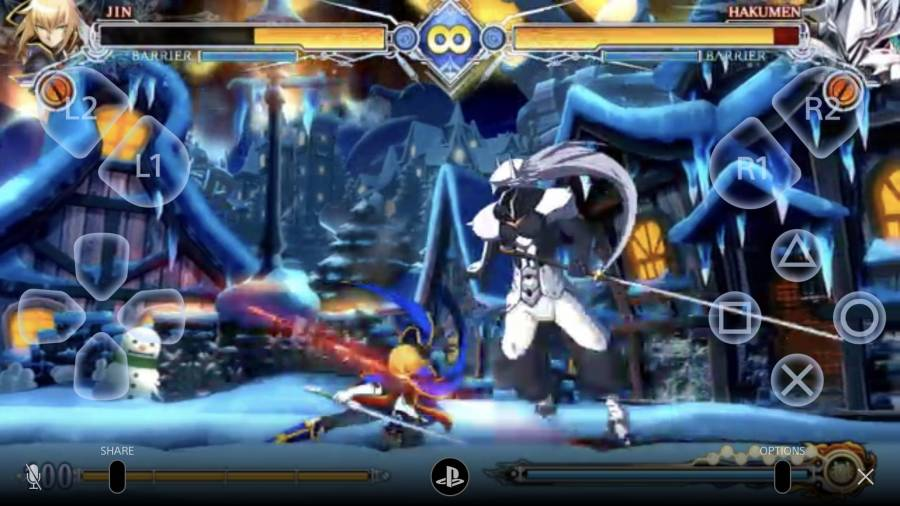 BLAZBLUE CENTRALFICTIONプレイ画面