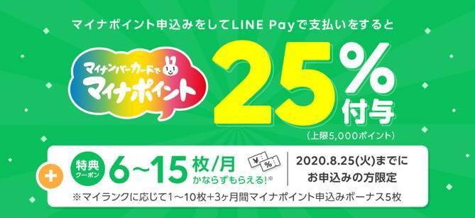 LINE Pay マイナポイントキャンペーンバナー