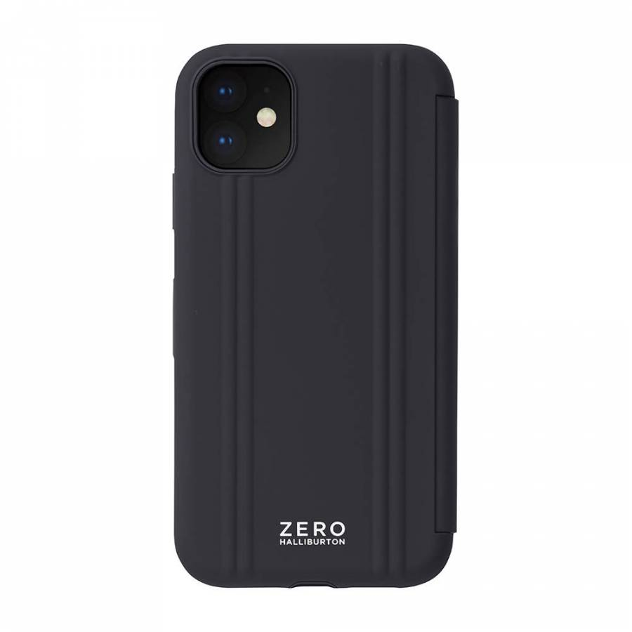 【2019 New iPhone 6.1 inch ケース】ZERO HALLIBURTON Hybrid Shockproof Flip case for 2019 New iPhone 6.1inch (Black)