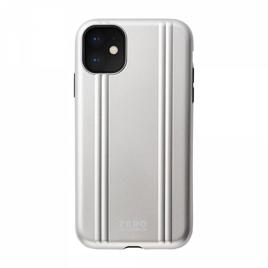 【2019 New iPhone 6.1 inch ケース】ZERO HALLIBURTON Hybrid Shockproof case for 2019 New iPhone 6.1 inch (Silver)