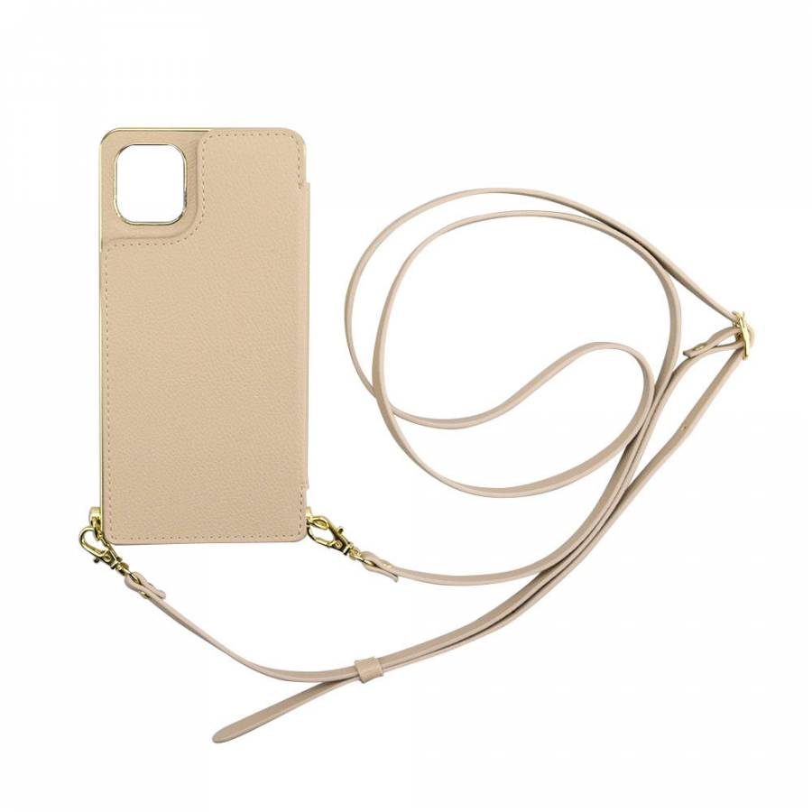 【2019 New iPhone 6.1 inch ケース】Cross Body Case for 2019 New iPhone 6.1 inch (beige)