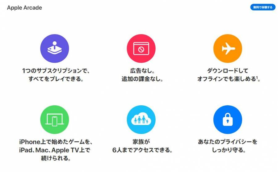 『Apple Arcade』公式サイトより抜粋の画像