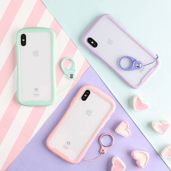 [iPhone XS/X/XR/8/7専用]iFace Reflection Pastel強化ガラスクリアケース