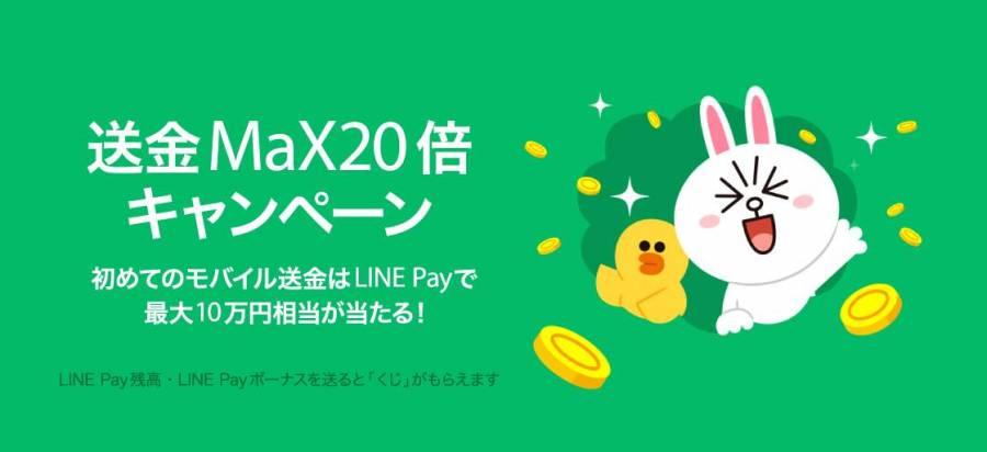 「送金MaX20倍キャンペーン」 バナー