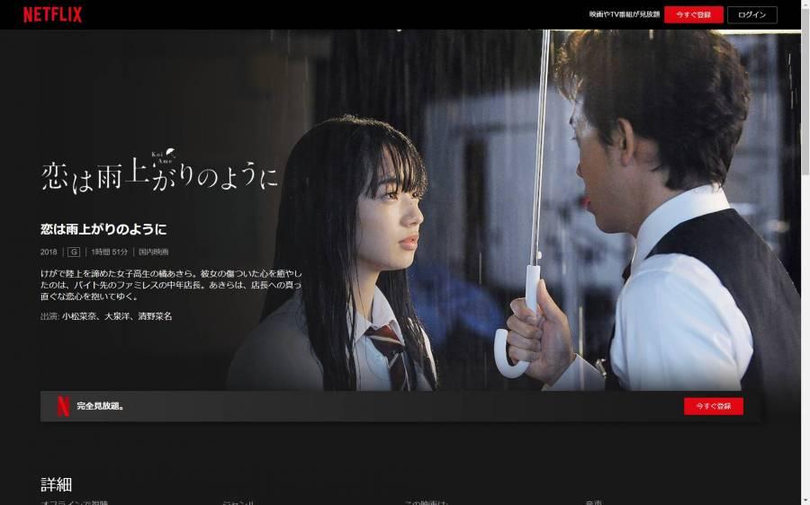 『恋は雨上がりのように』TOPページ画像