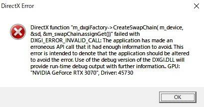 DirectX Error
